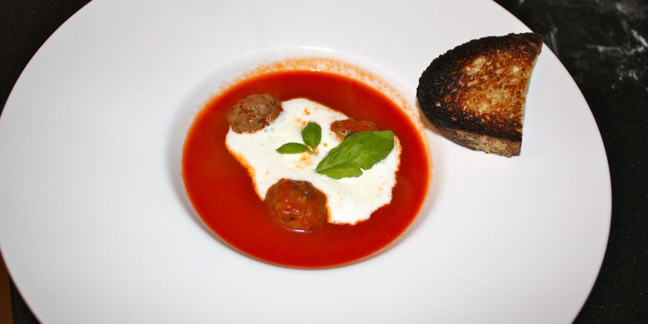 Winter Time = Tomato Soup with Meatballs